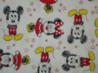 Disney Baby Mickey Minnie On White Quilting Fabric Camelot 100% Cotton Fq Bty