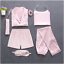 Sleepwear-7-Pieces-Pyjama-Set-2019-Women-Spring-Summer-Sexy-Silk-Pajamas-Sets-Sa miniatura 30