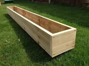180cm 6ft Long Rustic Wooden Window Box Trough