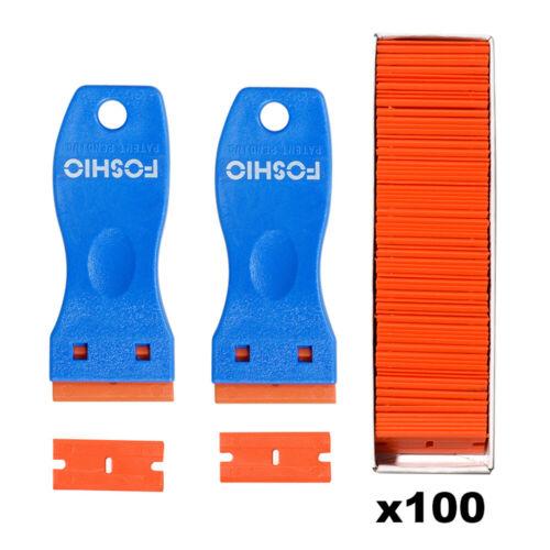 Folien Einziehbar Messer Schaber Entfernung Hand-werkzeug 100 Kunststoffklingen