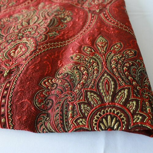 Polyester Metallic Yarn Brocade Jacquard Garment Thick Upholstery Fabric By Yard