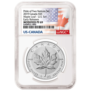 2019-Modified-Proof-5-Silver-Canadian-Maple-Leaf-NGC-PF69UC-ER-Flags-Label-Prid