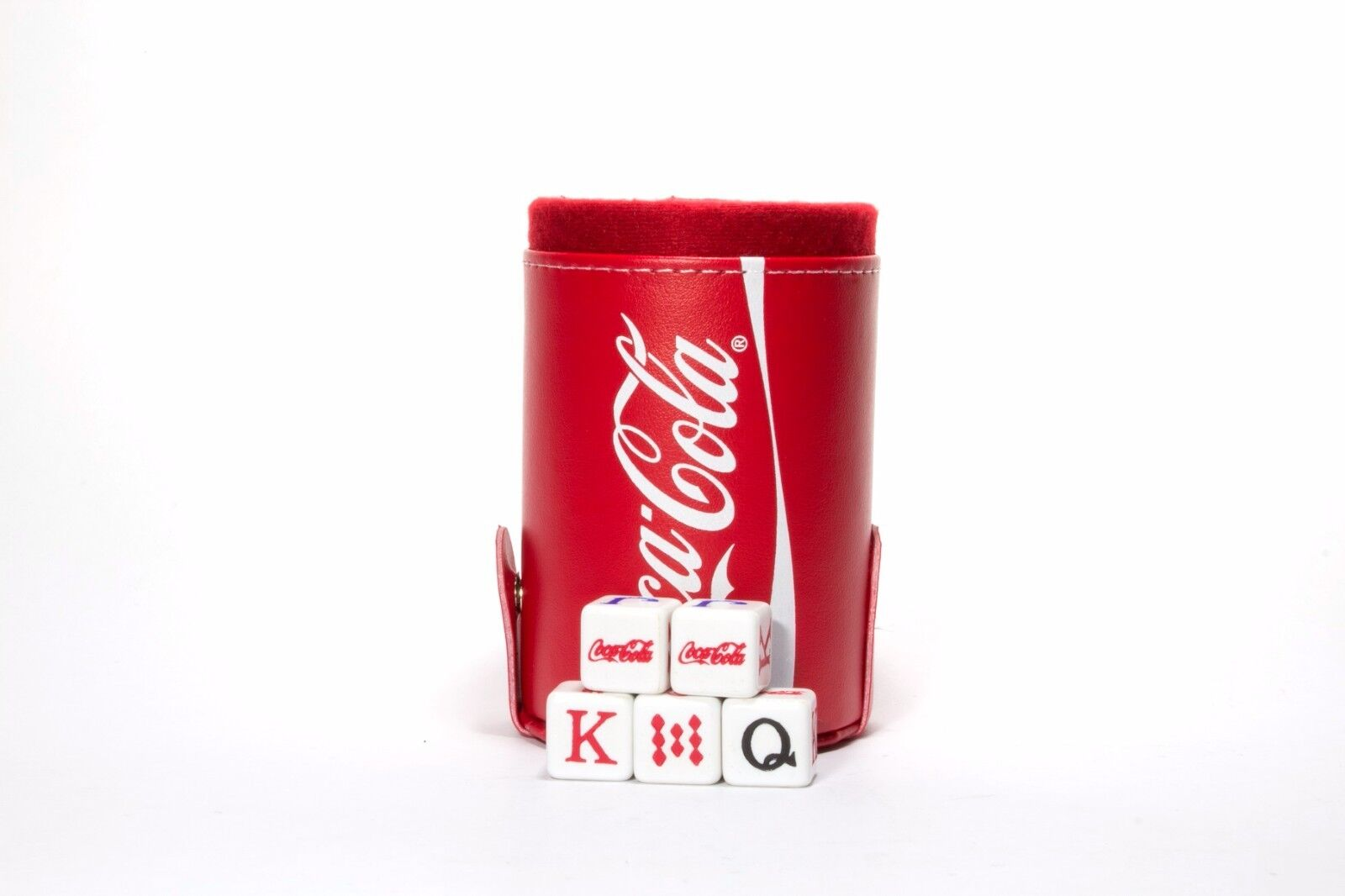 Coca-Cola Dice Cup with Storage Compartment. 5 5 5 Engraved Poker Dice d3cfe5
