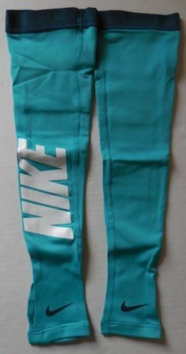 Nike Pro Hyperwarm Graphic Arm Sleeves Dusty Cactus/Blue Size Adult XS/S New