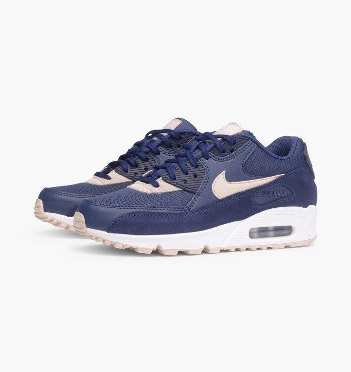 WMNS Nike Air Max 90  SZ 7 Binary bluee Oatmeal White 325213-410
