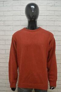 TIMBERLAND-Uomo-Taglia-2XL-Maglione-Cotone-Pullover-Cardigan-Sweater-Man-Rosso