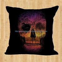 Day Of The Dead Sugar Skull Cushion Cover 17 X 17 Decorative Pillow Covers