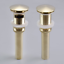 Bath Faucet Vessel Vanity Sink with without overflow Pop Up Drain Brushed Gold