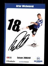 Artur Wichniarek Autogrammkarte Arminia Bielefeld 2008-09 Original Sign+159401