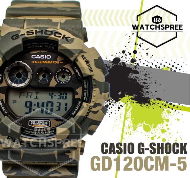 Casio G-Shock Brown Design Camouflage Series Watch GD120CM-5D AU FAST & FREE