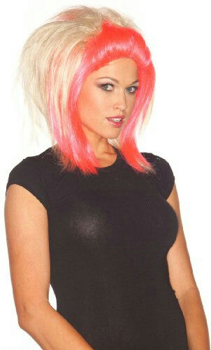 Pink and Blonde Love of Rock Adult Wig