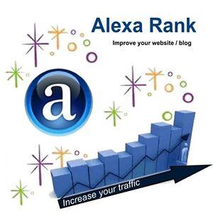 Alexa Service: Boost your Alexa Rank Below 999,999, White Hat-Google Website SEO
