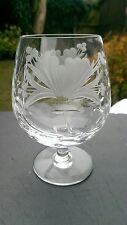 "Royal BRIERLEY - HONEYSUCKLE Cut - Brandy Glass / Glasses - 4 7/8"" unsigned."