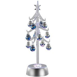 Weihnachtsbaum mini deko glasbaum mit wundersch nem led farbspiel ebay - Weihnachtsbaum mini led ...