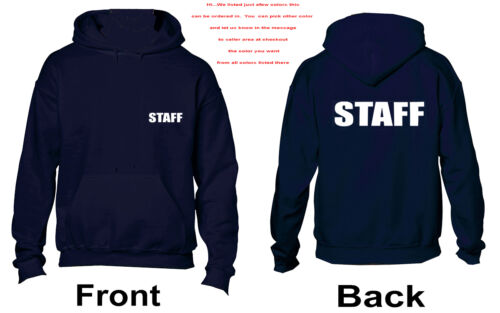3069 Staff White Hoodie Event Protection -