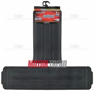 HD Rubber Runner Black Floor Mat Utility 1pc Odor Free Non Toxic MOTOR TREND