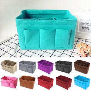 Multi-Pocket-Women-Insert-Bag-Felt-Fabric-Purse-Handbag-Organizer-Bag-Liner-Tote