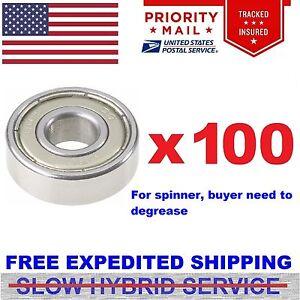 Wholesale Lot of 100 PCS 608ZZ 8x22 mm 608Z Metric Ball Bearing VXB Brand 8mm ID