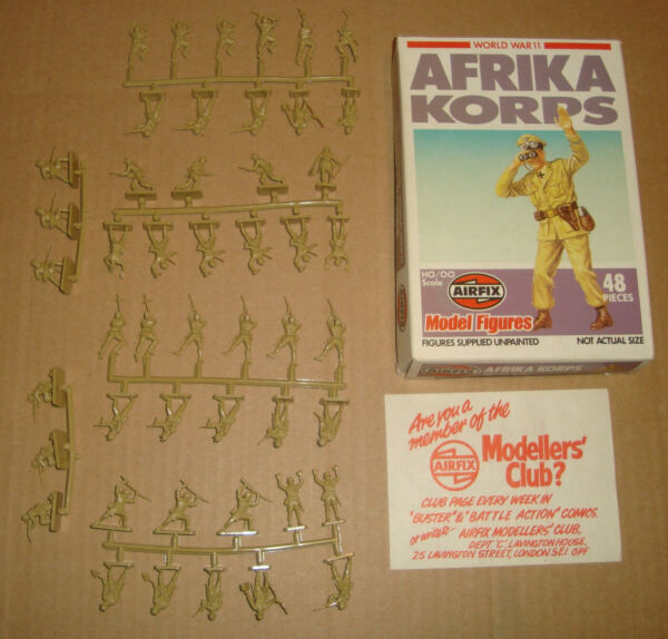 Airfix 01711-6 S11 1/72 Ho/oo World War 11 Afrika Korps 1980 Superficie Lucente