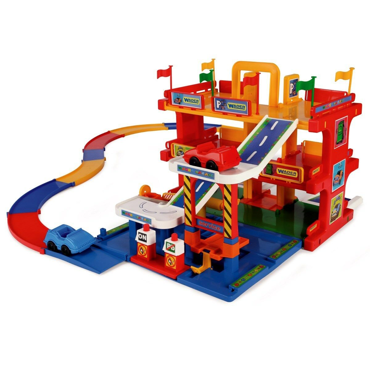 Car Park Garage Play Street Parking Garage with Lift 3 Levels Toy Car Wader