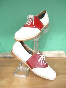 Spalding RED & White Saddle shoes US women's 11D