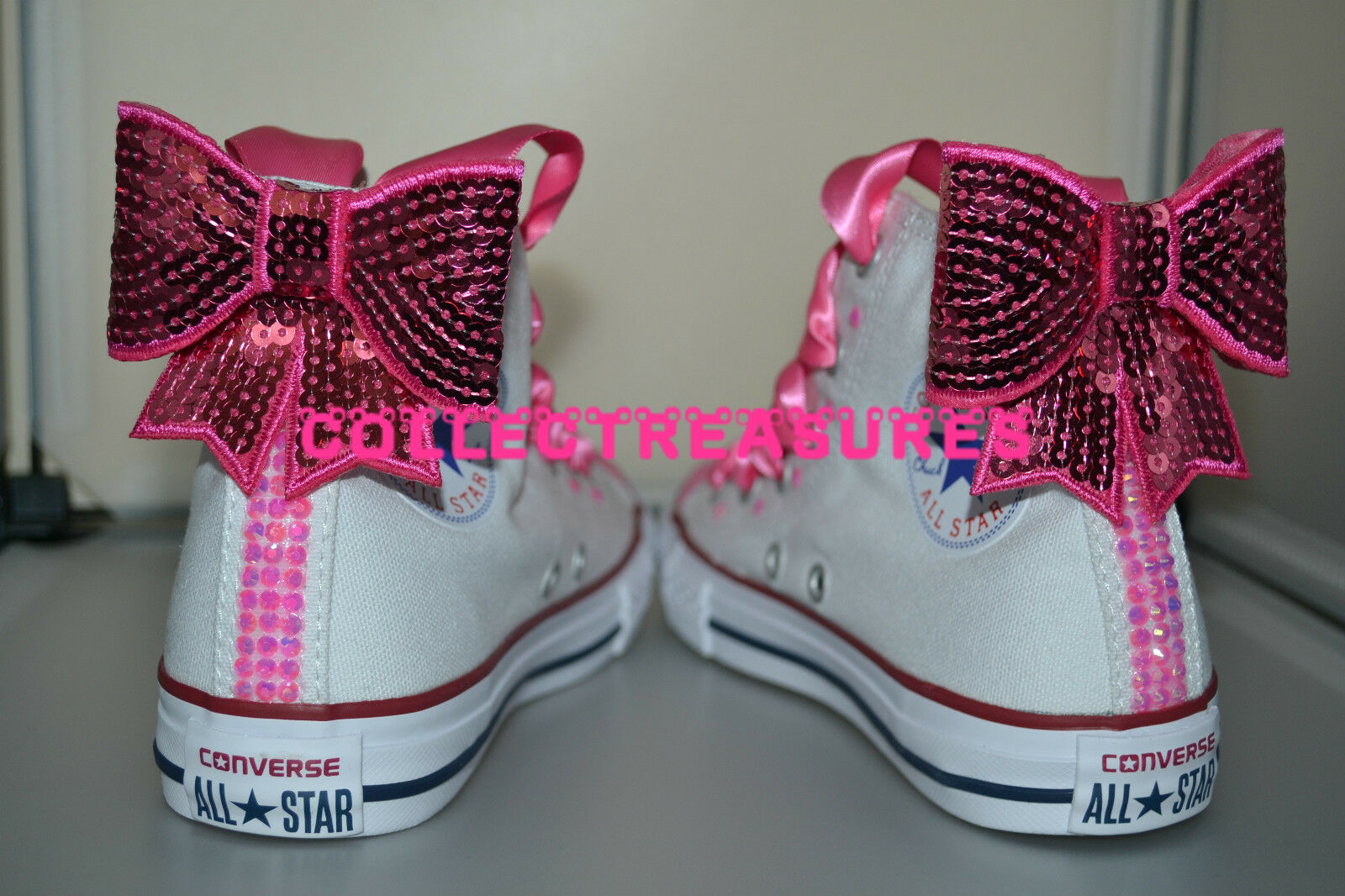 Custom Crystal Diamante Bling WEISS UK Party Wedding Converse Größe UK WEISS 3 4 5 6 7 8 9 1cda69