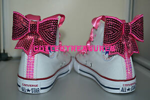 3 8 Crystal Party Size Bling 7 6 Uk Converse 4 Wedding White Diamante 9 Custom 5 zp6wdqd