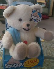 RARE Vintage New in Box Talking Snuggle Fabric Softner Bear WORKING 2000