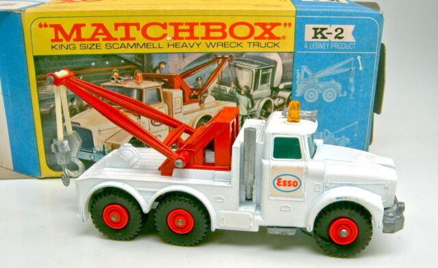 Kingsize K-2C Scammel Wreck Truck weiß grüne Scheiben top in Box