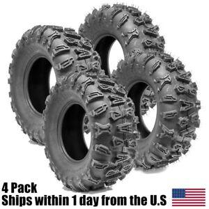 פנטסטי Set of 4 UTV ATV Tires 26x9-12 26x9x12 Front 26x11x12 26x11-12 XV-97