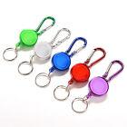 Retractable Strap Carabiner Clip Card label Key Chain Fancy Gift Convenient