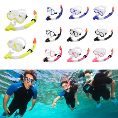 Dive Adult Swimming Goggles Set Dry Beach Diving Snorkel Scuba Snorkelling Mask