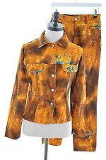 CARLA KOPS Womens 2 Piece Suit Denim Size 12 Medium W28 L27 Multi Cotton