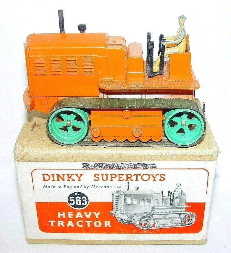 Dinky Supertoys Meccano 1 43 HEAVY TRACTOR SHOVEL BULLDOZER  563 Boxed `50 RARE