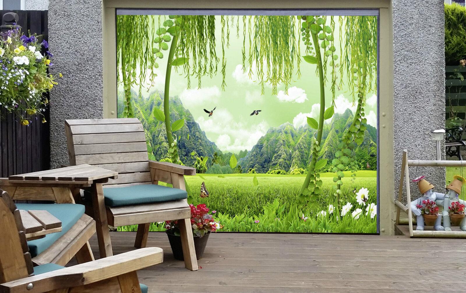 3D 3D 3D Prairie Verte 4 Garage Door Murals Wall Print Decal Wall Deco AJ WALLPAPER FR 81e311