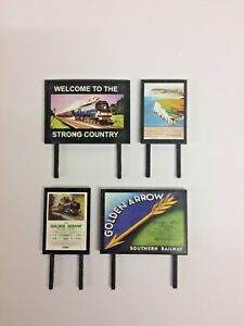 4-Model-Railway-Billboards-Posters-Trackside-Signs-OO-Gauge-Pack-261