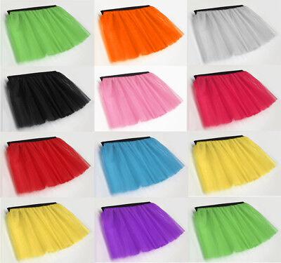 LONG NET NEON UV TUTU SKIRT 80s HEN FLO FANCY DRESS HALLOWEEN PARTY 8-14 /& 16-26