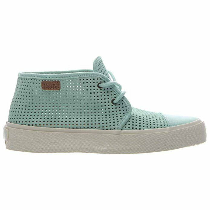 Vans Off the Wall Rhea SF Square Perf SF Gossamer Green Womens Boots 6 shoes