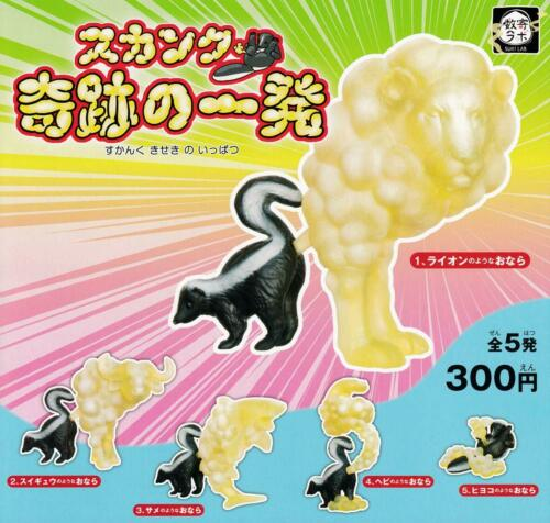 One shot Gashapon of epoch skunk miracle 5 set mini figure capsule toys