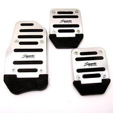 3 Pcs Aluminium Alloy Racing Sports Manual Automobiles Non-Slip Foot Pedals