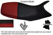 BURGUNDY AND BLACK CUSTOM FITS APRILIA PEGASO 650 97-03 DUAL LEATHER SEAT COVER