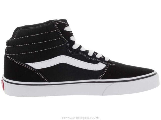 3f5df51824 VANS Men s Milton Hi (suede Canvas) Black white Skate Shoe US 9 M ...
