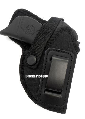 RH IWB AIWB Concealment /& OWB Belt Holster w// Comfort Tab for BERETTA PICO 380