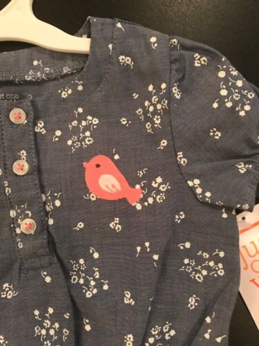 Just One You by Carter/'s Cute Bird and Flowers Girls 6 month One-piece Outfit