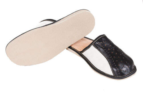Mens Natural Leather Slippers Shoes Size 6 7 8 9 10 11 12  Luxury Flip-Flop