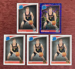 Lot of (5) 2018-19 Donruss Optic KEVIN HUERTER Rated Rookie Blue Prizm #184 RC🔥