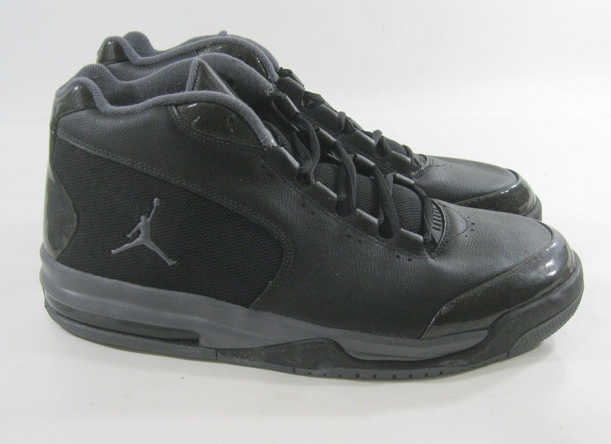 486890-002 Air Jordan Big Fund Viz Rst Mens Shoes Black Dark Grey Comfortable