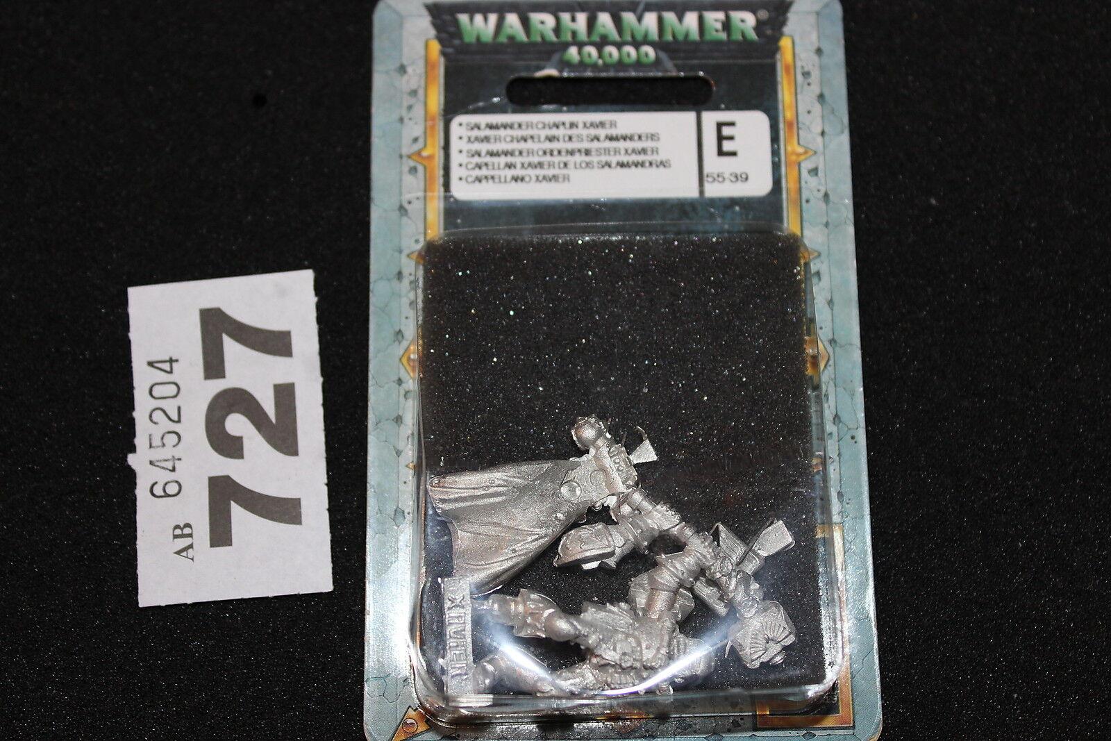Games workshop warhammer 40k space marines salamanders aumônier xavier neuf new