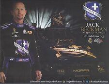 "2017 JACK BECKMAN ""INFINITE HERO "" NHRA FUNNY CAR HANDOUT POSTCARD"