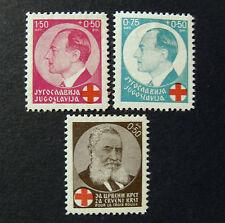 "JUGOSLAVIA,Jugoslavija,Jugoslawien 1936 "" Pro Croce Rossa"" 3V.Cpl set MH*"